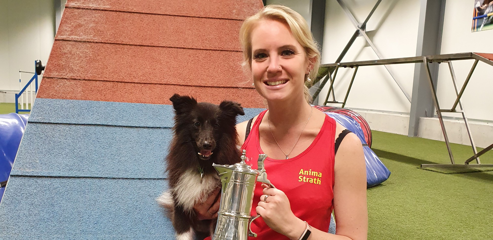 Claudia Schwab Swiss champion with cup