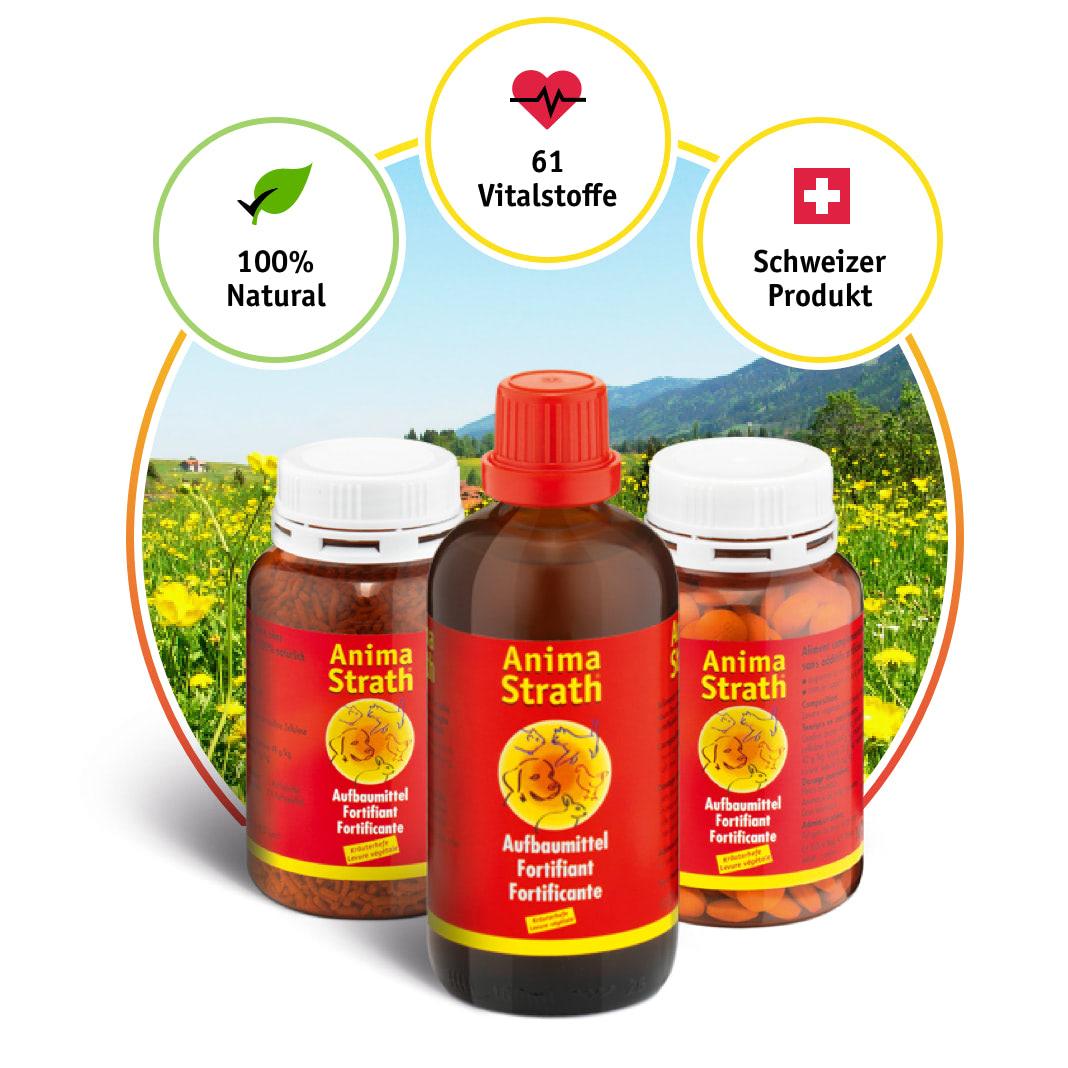 Anima-Strath Produkte mit Label